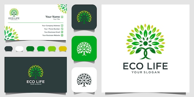 People tree logo design inspiration création de logo et carte de visite