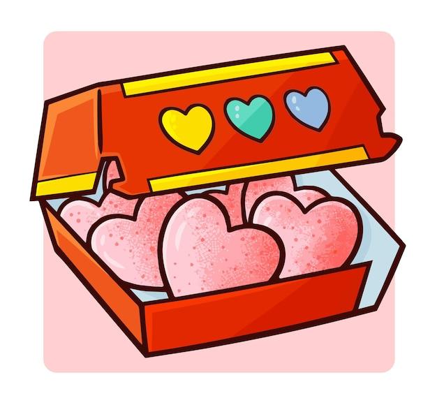Pépites d'amour drôles et mignonnes dans un style simple doodle
