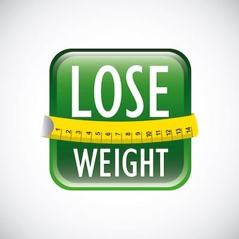 Perdre du poids au cours de l'illustration vectorielle fond gris