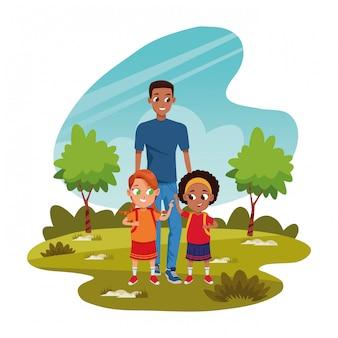 Père célibataire avec enfants