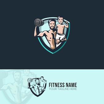 Père et fils fitness logo