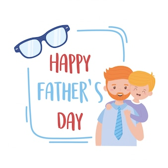 Père et fils le jour de la fête des pères