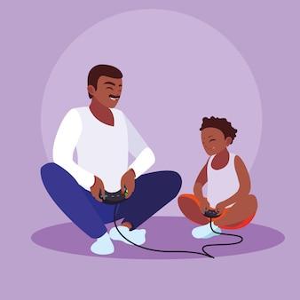 Père jouant avec son fils