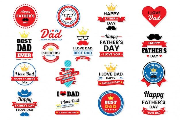 Père jour anniversaire vector logo pour bannière