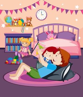 Un père lisant une histoire au coucher à sa fille