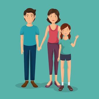 Père et mère avec fille