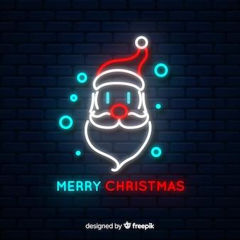 Père Noël enseigne au néon