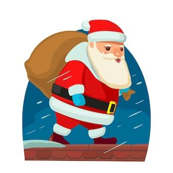 Le père noël. illustration vectorielle plane pour le nouvel an et joyeux noël.