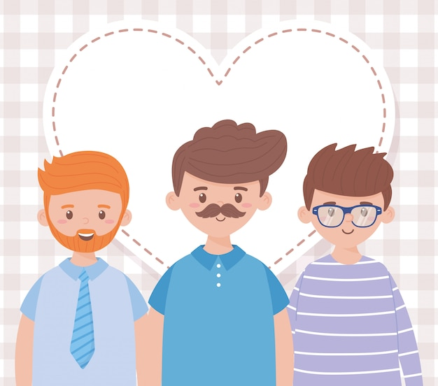 Pères hommes sur la conception de la fête des pères