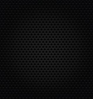 Perforation noire métallique abstraite texturée.
