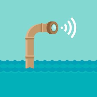 Périscope sous l'eau avec caméra
