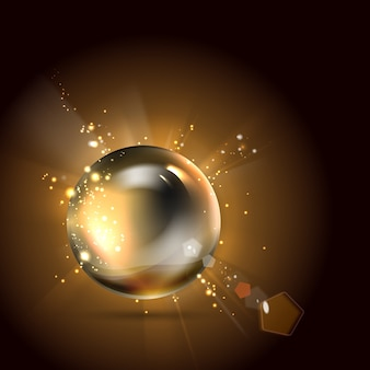 Perl brillant d'or.