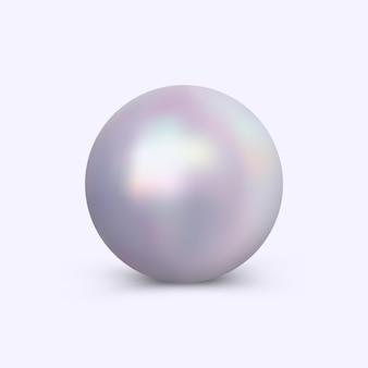 Perle lumineuse de vecteur isolé