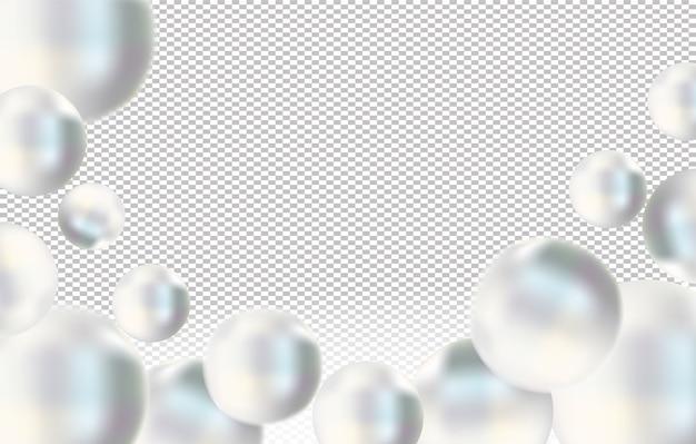 Perle de mer blanche brillante o