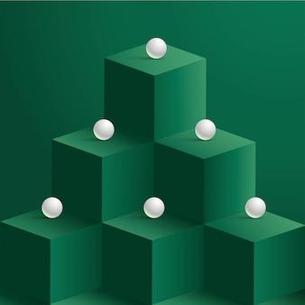 Perles sur cubes