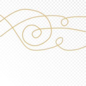 Perles d'or sur fond blanc