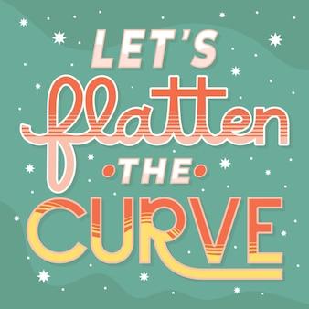 Permet d'aplatir le thème de la courbe