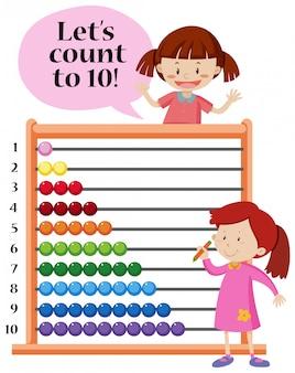 Permet de compter jusqu'à 10 abaques