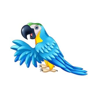 Perroquet bleu de dessin animé