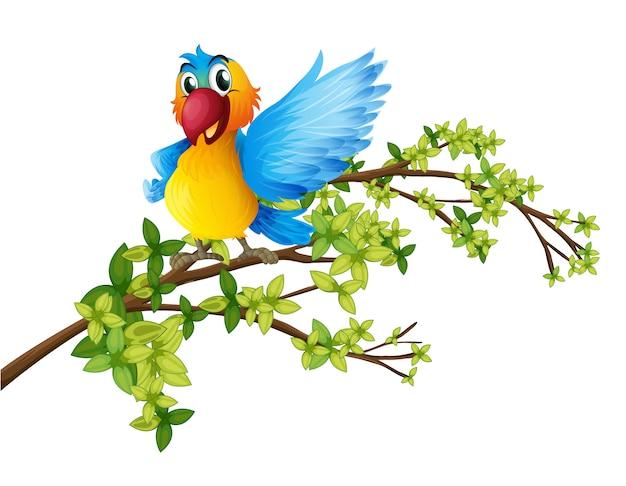 Un perroquet coloré sur une branche d'un arbre