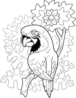 Perroquet oiseau