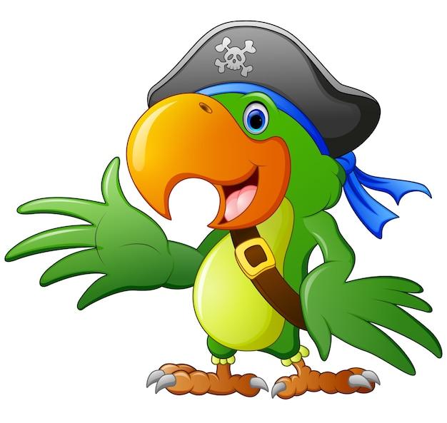 Perroquet de pirate de dessin animé