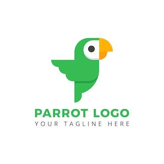 Perroquet talk oiseau logo