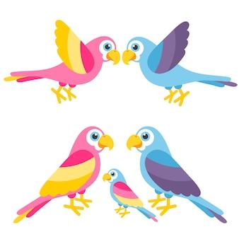 Perroquets mignons