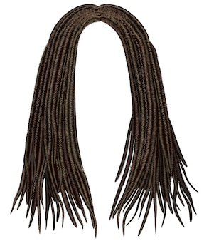 Perruque de dreadlocks cheveux longs à la mode