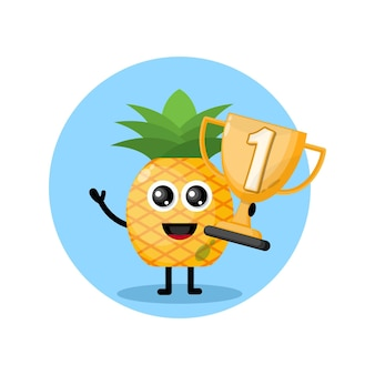 Personnage d'ananas champion trophy