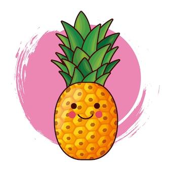 Personnage d'ananas kawaii