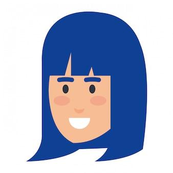 Personnage avatar belle tête de femme