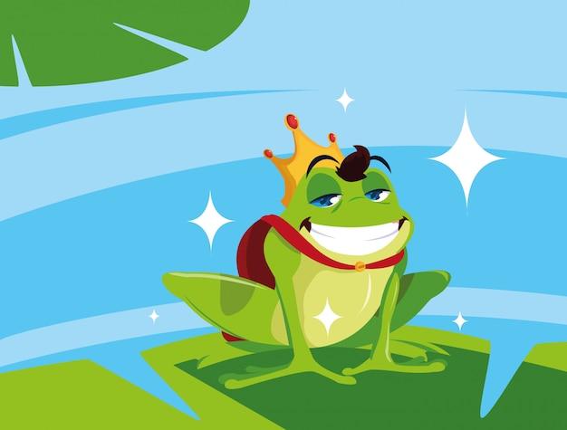 Personnage avatar conte de fées prince grenouille