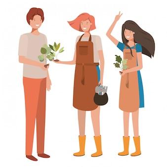 Personnage avatar du groupe de jardiniers