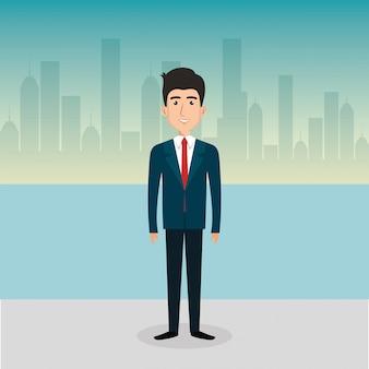 Personnage avatar homme d'affaires