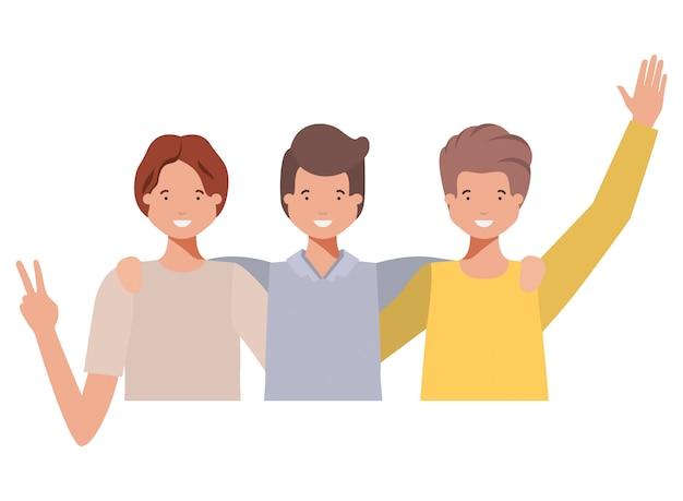 Personnage avatar des jeunes hommes