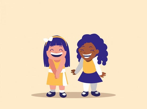Personnage avatar de petites filles mignonnes