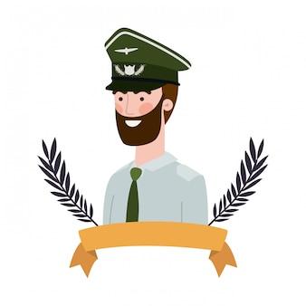Personnage avatar soldat de guerre