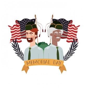 Personnage avatar de soldats de guerre