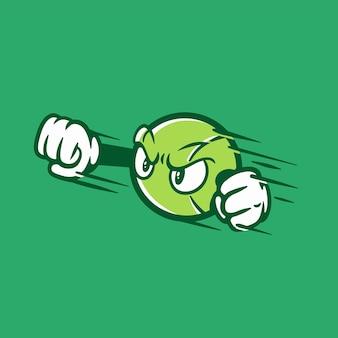 Personnage de balle de tennis
