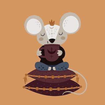 Personnage de bébé souris souris dessin animé