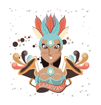Personnage de belle femme carnaval