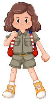 Un personnage de camping