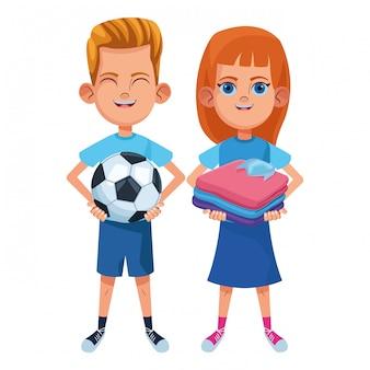Personnage de carton avatar jeunes enfants