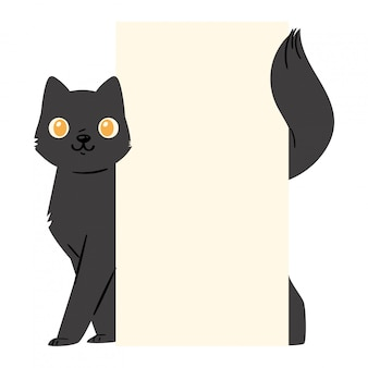 Personnage chaton chat noir
