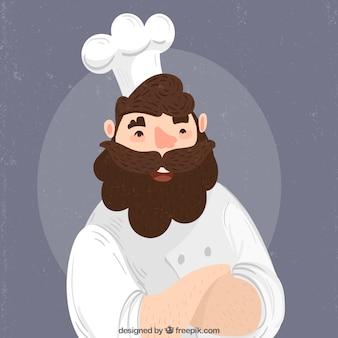 Personnage de chef avec barbe