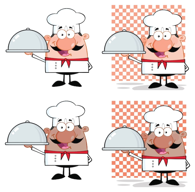 Personnage chef mascot cartoon