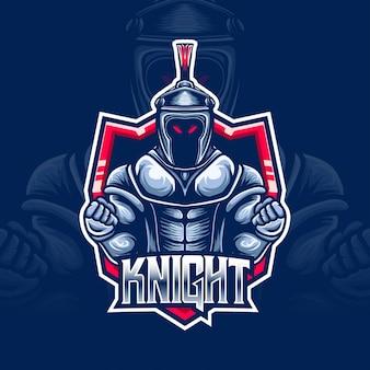 Personnage de chevalier logo esport
