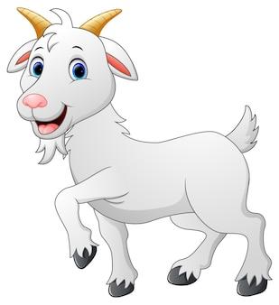 Personnage de chèvre de dessin animé