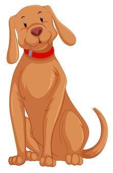 Un personnage de chien mignon